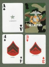 Collectible  playing cards  Military. U.S. Marine